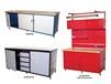 "CABINET STYLE WORKBENCHES WITH 1-1/4"" PLASTIC TM TOP"