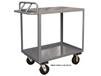 2 SHELF STOCK CARTS WITH ERGONOMIC HANDLES