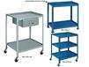 "UTILITY TABLES & CARTS - WITH 3"" CASTERS"